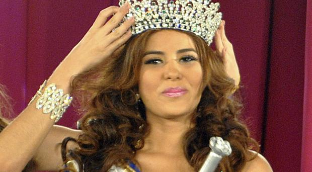 Maria Jose Alvarado was crowned Miss Honduras in April, and had been due to compete in Miss World (AP)