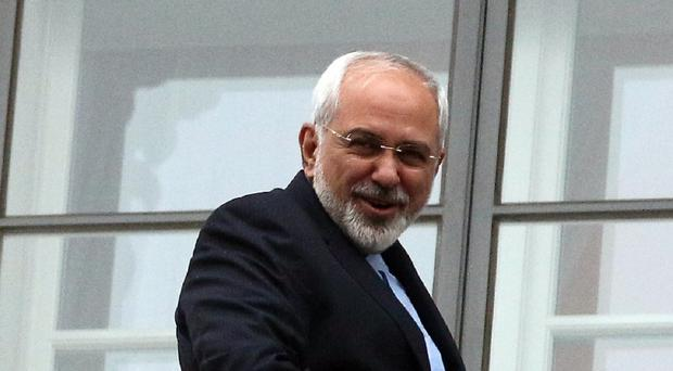 Iranian Foreign Minister Mohammad Javad Zarif at the talks in Austria. (AP)