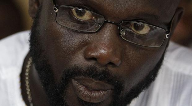 Liberian opposition vice-presidential candidate and former soccer star George Weah (AP)