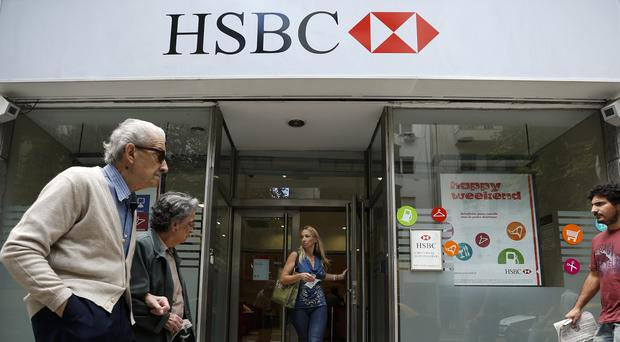 An HSBC branch in Buenos Aires, as Argentina's tax agency charged the bank with tax offences (AP)