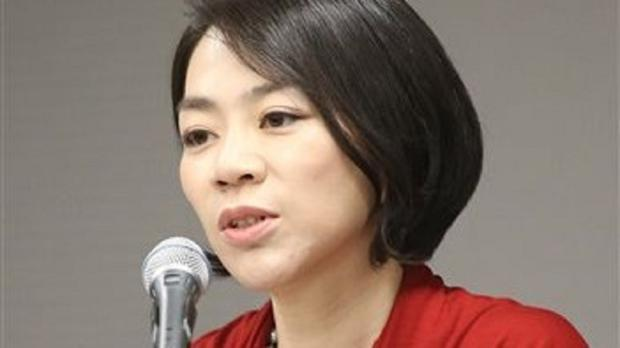 Cho Hyun-ah has quit her role as head of cabin service at Korean Air after an incident involving nuts on a flight (AP)