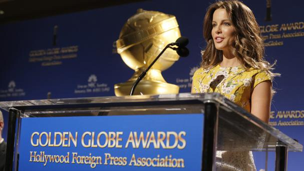Actress Kate Beckinsale announced nominations for the 72nd annual Golden Globe Awards (AP)