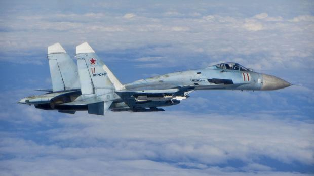 A Russian air force SU-27 Flanker aircraft (File photo)