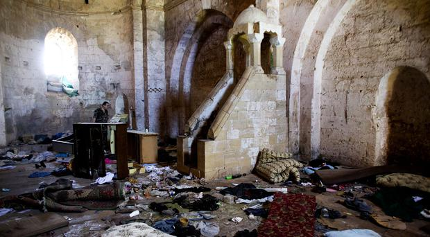 A chapel at Crac des Chevaliers, the world's best preserved medieval Crusader castle, in Syria. (AP)