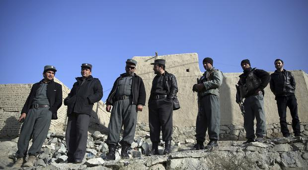 Afghan police and soldiers are taking over security responsibilities
