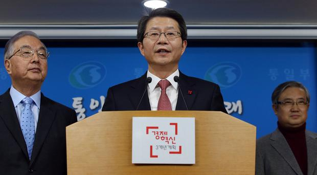 Ryoo Kihl-jae said South Korea wants talks on exchange programmes, joint projects and laws needed for a unified Korea (AP/Yonhap)