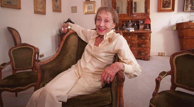 Actress Luise Rainer, pictured in 1999 in her London home (AP)