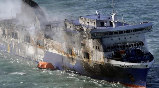 It is still unclear how many people were on board the Norman Atlantic ferry that caught fire in the Adriatic (AP)