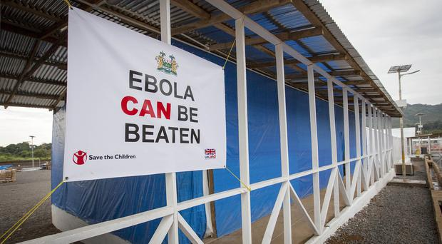The Kerry Town Ebola Treatment Centre in Sierra Leone. (PA/Save the Children UK)