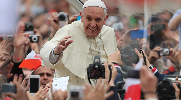 Pope Francis told the faithful in St Peter's Square that the new cardinals come