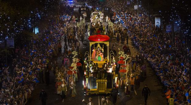 The traditional parades mark the eve of the Epiphany (AP)