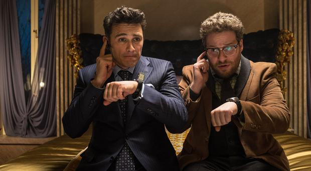 James Franco, left, as Dave and Seth Rogen as Aaron in a scene from The Interview (AP/Sony - Columbia Pictures)
