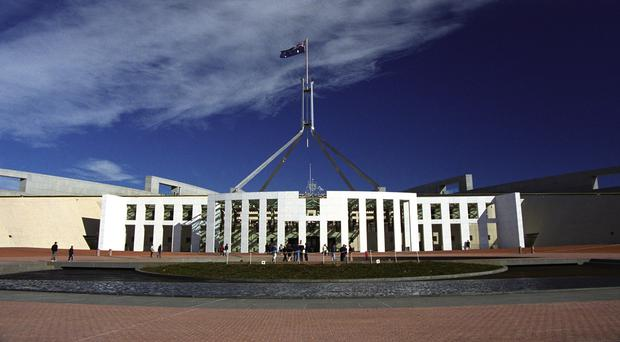 The incident happened near the prime minister's entrance to Parliament House