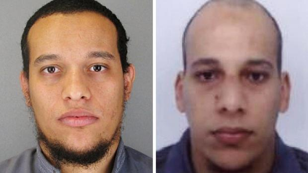 Said and Cherif Kouachi Kouachi brothers carried out the attacks at the Charlie Hebdo office in Paris (Judicial Police of Paris/PA)