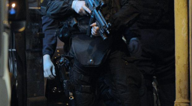 Armed: A members of French police's GIPN special force