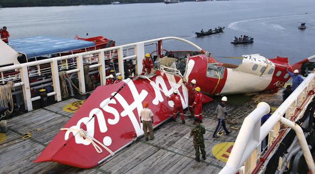 The tail of the crashed AirAsia plane was fished out of the Java Sea