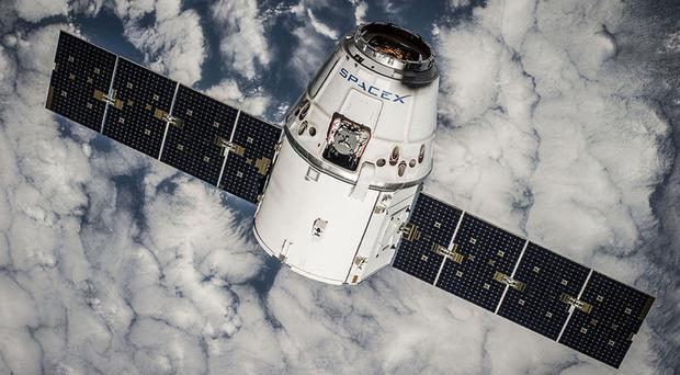 The Dragon spacecraft in orbit (SpaceX/PA)