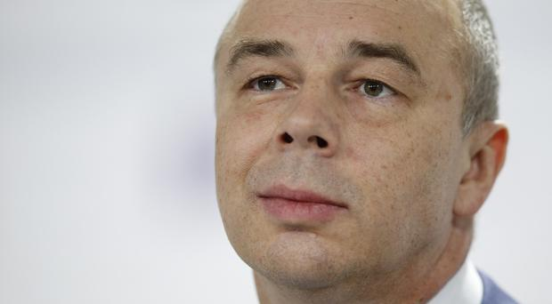 Russia's finance minister Anton Siluanov attends the Gaidar Forum in Moscow (AP)