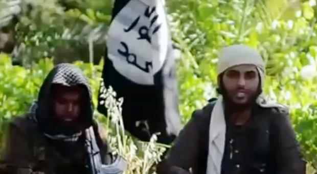 A recruitment video for the Islamic State group