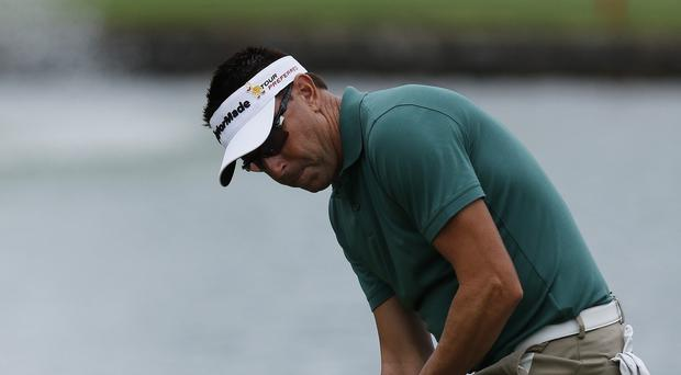 Robert Allenby pictured the day before he was robbed