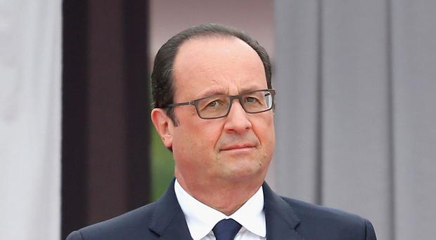 French president Francois Hollande's popularity has soared