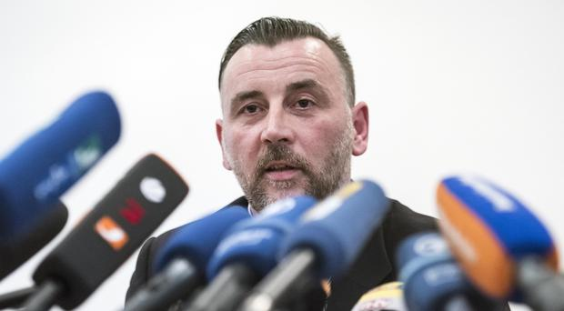 Pegida leader Lutz Bachmann has quit over online postings (AP Photo/Jens Meyer)
