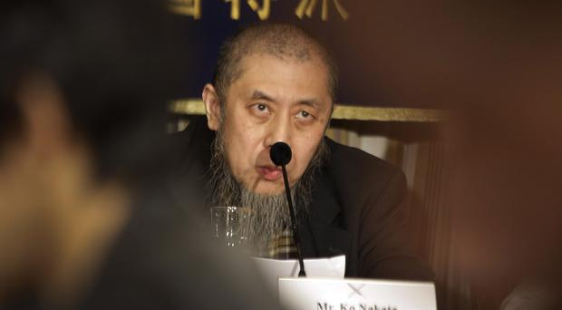Ko Nakata, an expert on Islamic law, speaks during a news conference on two hostages held by the Islamic State (AP)