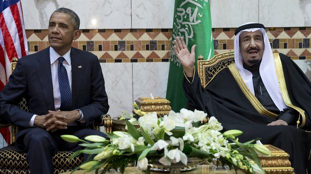President Barack Obama meets with new Saudi Arabian King Salman bin Abdul Aziz, in Riyadh. (AP)