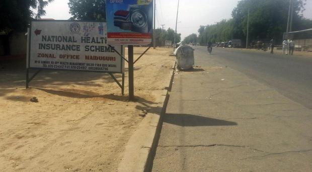A curfew in the city of Maiduguri after clashes between Nigerian troops and Islamic extremists. (AP)