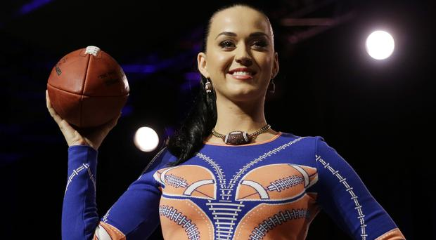 Katy Perry has promised a wild half-time show at the NFL Super Bowl game (AP)
