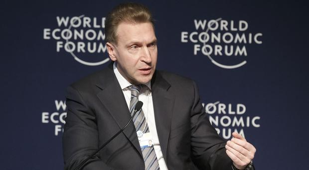 Russian deputy prime minister Igor Shuvalov said the west was trying to turn business against the Kremlin (AP)