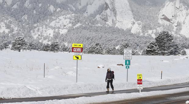 Another blast of wintry weather could hit the travel plans of thousands of people (AP)
