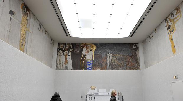 Gustav Klimt's Beethoven Frieze at the Secession gallery in Vienna, Austria (Ap)