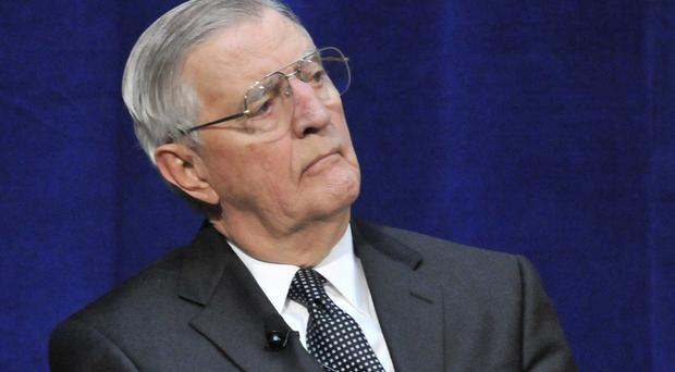 Former US vice president Walter Mondale has been admitted to hospital suffering from flu (AP Photo/Jim Mone, File)