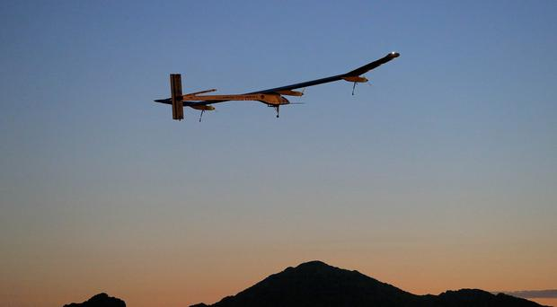 The Solar Impulse has a wingspan comparable to a Boeing 747, but weighs only as much as a car (AP)