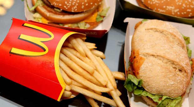 McDonald's said global sales fell 1.7 per cent at established locations last month