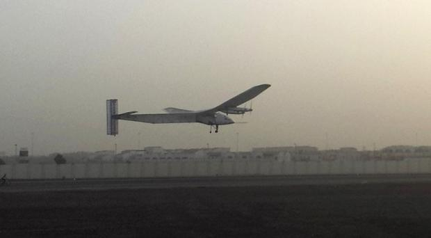 The Solar Impulse is on the second leg of its round-the-world flight (AP)