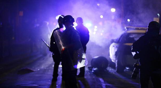 The shooting of Michael Brown last summer continues to cause unrest in the St Louis suburb of Ferguson (AP)