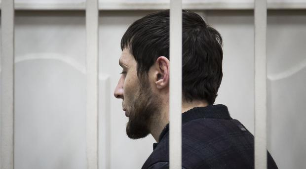 Zaur Dadaev stands in a court room in Moscow. (AP Photo/Ivan Sekretarev)