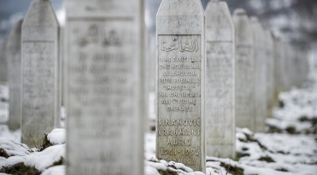 More than 8,000 Bosnian Muslims were killed in the eastern Bosnian enclave by the Serbs in 1995