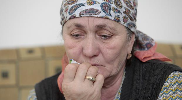 Zulai Gubasheva says she is certain her sons did not kill Boris Nemtsov. (AP Photo/Musa Sadulayev)