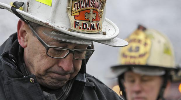 New York's fire commissioner Daniel Nigro describes the fire (AP)