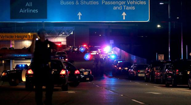 The scene at the New Orleans International Airport after Richard White went on the rampage (AP)