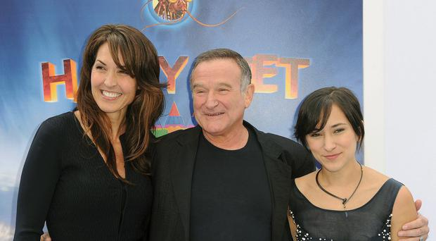 Susan Schneider, Robin Williams and Zelda Williams as lawyers for Williams' wife and children are set for a court battle over the late comedian's estate (AP)
