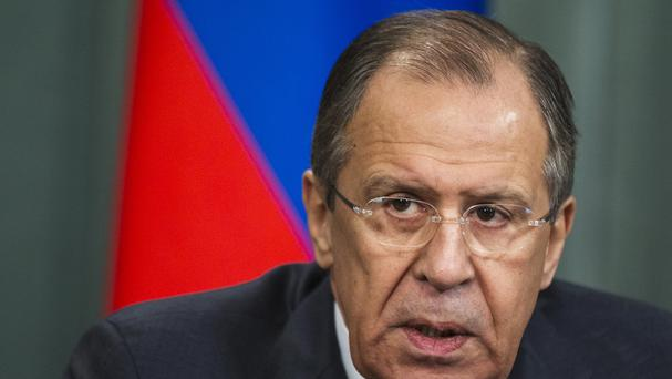 Russian foreign minister Sergey Lavrov said he was returning to the Iran nuclear talks (AP)