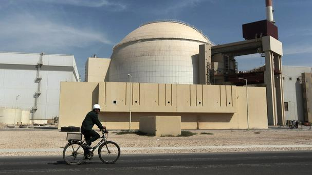 The reactor building of the Bushehr nuclear power plant in Iran (AP/Mehr News Agency)