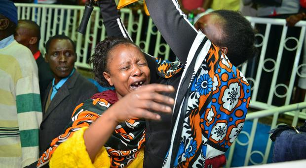 Relatives react following the Garissa University College terror attack (AP)