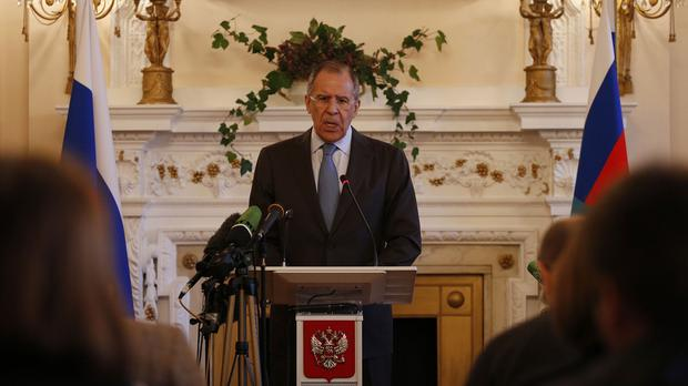 Sergey Lavrov said the parties were unable to agree on Ukraine's demands for the deployment of peacekeepers