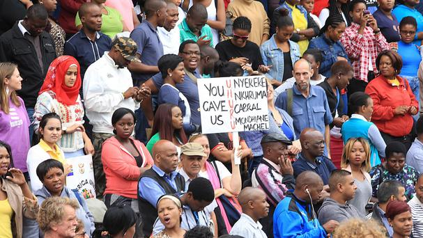 A peace march takes place in Durban amid fears among some foreigners and locals that anti-immigrant attacks will escalate (AP)
