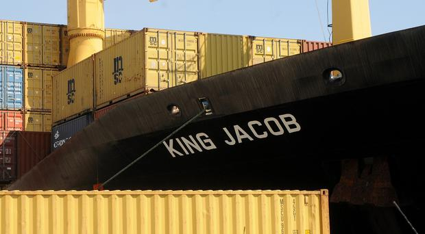 The King Jacob cargo vassel was the first to arrive to try to rescue migrants on the capsized boat